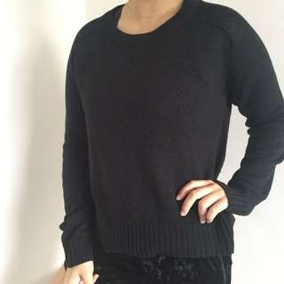 H&M Plain Black Sweater