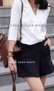 Collar white blouse