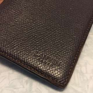 LANVIN leather long wallet