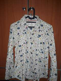 C2 BASIC OUTFITERS White Colorful Patterns Shirt