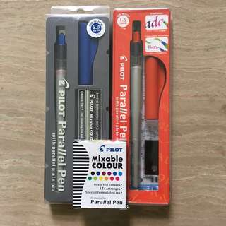 Pilot Parallel Pens including Cartridge