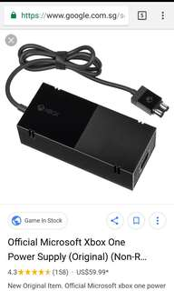 Xbox one authentic Microsoft power brick with 3 pin