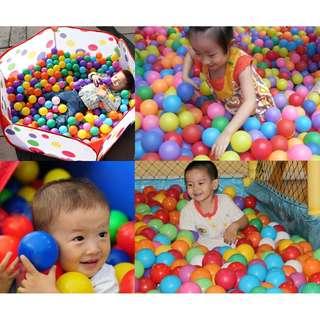 7CM 400pcs/set Ball Soft Ocean Ball Funny Baby Kid Swim Toy Water Pool Wave Ball