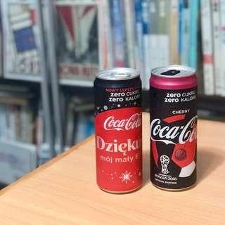 波蘭版 世界盃可口可樂 一套兩罐