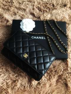Chanel wallet on chain Lambskin