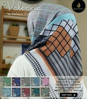 Grosir Jilbab Segi 4 Valencia Dafanya design 4