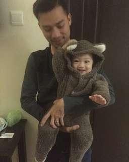 Baby bear suit / baju baby bear beruang