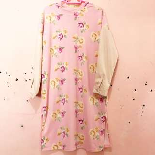 Baju pink flowers