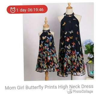 Buterfly neck dress