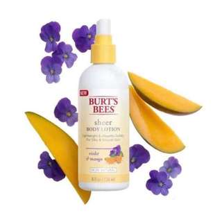 New Burt's Bee Sheer Body Lotion