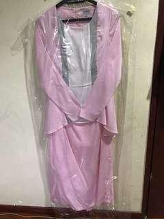 Diana Rikasari Modern Kurung in Light Pink