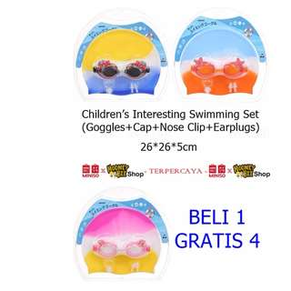 Japan Quality - Set Renang Anak Childrens Swimming Set Miniso