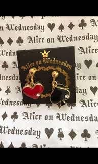 購自日本Alice on Wednesday 夾耳環