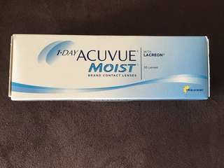 Acuvue 1-Day Moist (D -1.00 BC 8.5) New! Clearance Sales!!!