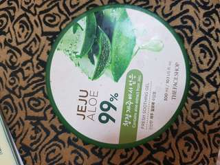 Aloe vera shooting gel face shop share in jar