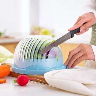 60 Second Salad Cutter Bowl Kitchen Gadget Vegetable Chopper Washer And Cutter Quick Salad Maker Chopper Kitchen tool