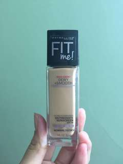 Preloved Maybelline Fit Me Foundation Dewy + Smooth