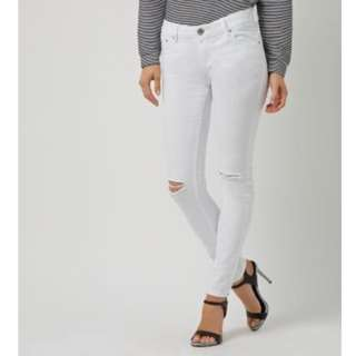 White Jeans with ripped knee