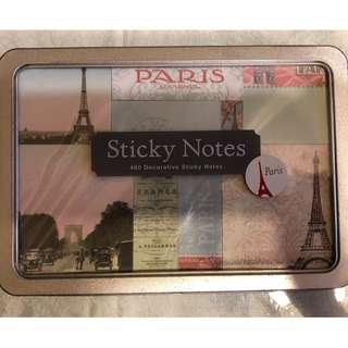 🚚 巴黎鐵盒便利貼・歐洲帶回・全新