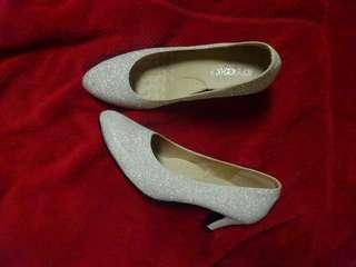 🚚 亮晶晶 高跟鞋 低跟 23.5