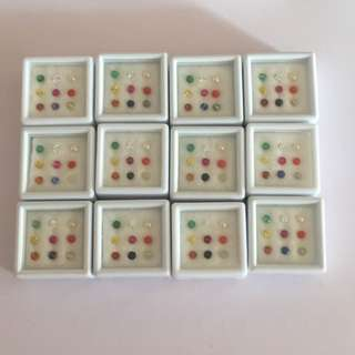 (Pre-Order) 9 Planet Navratna Gems Authentic Natural. only 1 Zircon is cubic. $10 each. Box $90. Final Price.