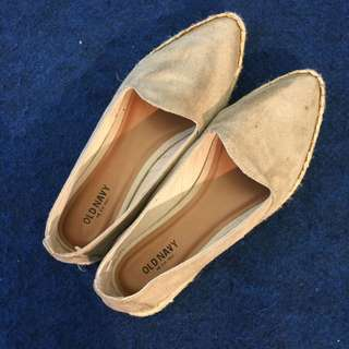 Old Navy Original Authentic 100% - Light Grey Flat Shoes