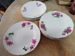 Vintage Plates porcelain flowers motif