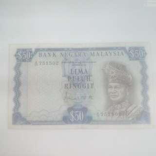 Bank Negara Malaysia Lima Puluh Ringgit