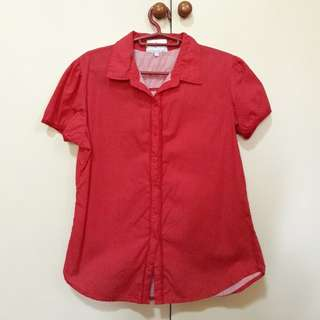 Red Polkadots Polo (HJCo)