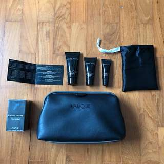SQ Suites / First Class Lalique Homme amenity kit