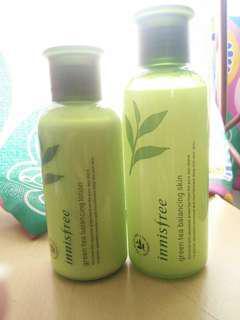 Innisfree Green Tea Toner & Moisturizer
