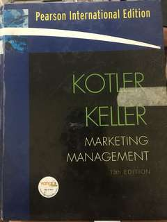 Kotler and Keller Marketing Management 13th edition