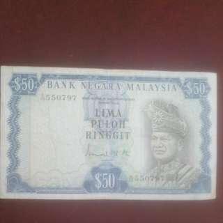 Bank Negara Malaysia Lima Puloh Ringgit