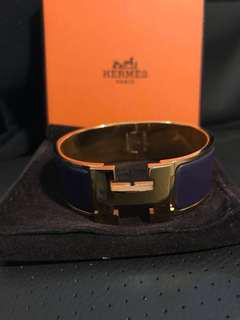 Authentic Hermes Clic H bangle