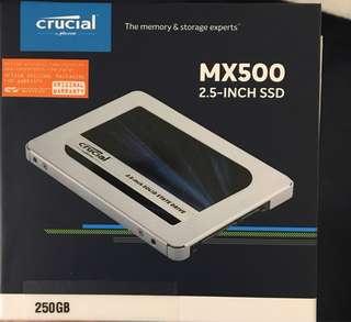 Crucial MX500, 250GB SATA SSD (New in box)