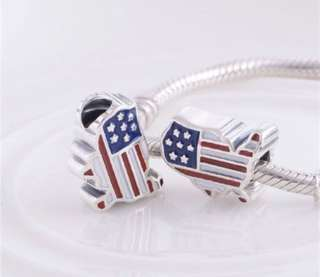 Pandora - USA FLAG MAP CHARM