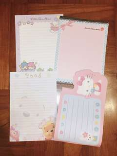 Lovely Japanese paper (little twin star, wine the pooh, hello kitty)