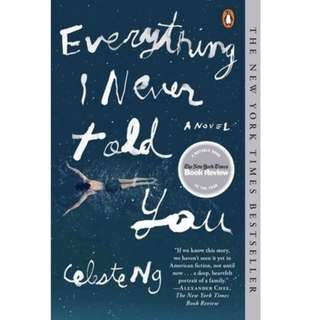 ✨ Everything I Never Told You - Celeste Ng ✨