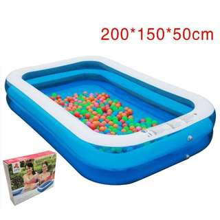 Outdoor Rectangular Inflatable Pool
