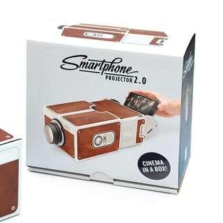 【Smartphone Projector 2.0 第二代 DIY 手機 投影機】電影 桌上型 投影器