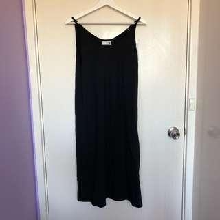 Black Slip Dress (Not Satin)