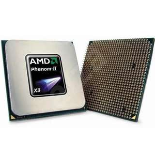 CPU AMD Phenom II X3 710  3核心 2.6GHz, Cache L2 3x512KB, L3 6MB, Socket AM3, 95W. 100% Work------ 與其他Socket AM3 CPU都同時相容Socket AM2+主機板。如有問題7日包退錢.