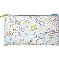 BN Sumikkogurashi Flat Pouch (Light Blue)