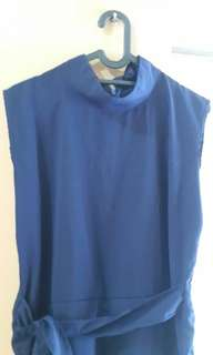 Dark blue jumpsuit#Merdeka73