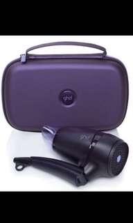 GHD Flight travel 時尚紫(限量款)摺疊旅行吹風機 國家雙電壓110v/220v 購入於統一時代百貨