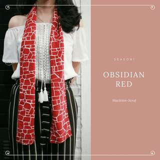 Scarf obsidian red