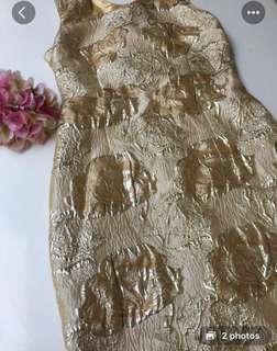 Gold One sholder Dress