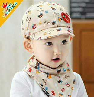 Infant Baby bib with hat (3-24 m)