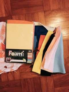 Felt paper, foam paper
