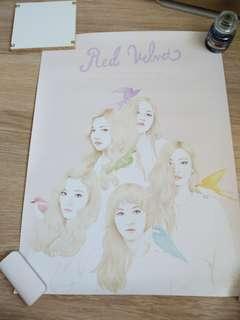 Red Velvet Ice Cream Cake 彩色版 海報 poster